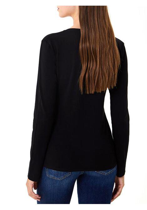 T-SHIRT CON APPLICAZIONI LIU JO JEANS | T-shirt | WF0389J500322222NERO