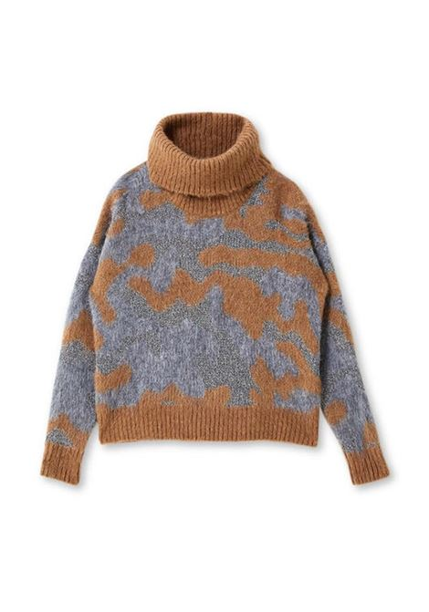 LIU JO KNITWEAR |  | MF0159MA75IT9339TOBACCOCAMOUFLAGE
