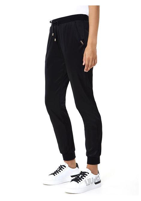 JOGGINGS IN RASO STRETCH LIU JO SPORT | Pantalone | TF0044J607122222NERO