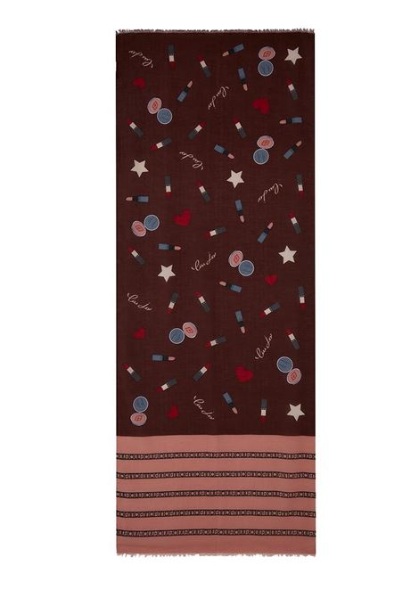 FOULARD CON MAKE UP LIU JO | Stola | 3F0029T030091725RUBYWINE