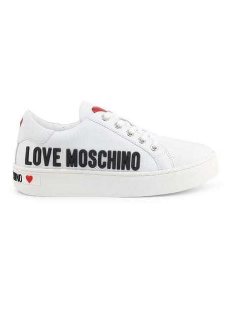 SNEAKERS CASSETTA 35 LOVE MOSCHINO | Sneakers | JA15063G1BIA0100VITBIANCO