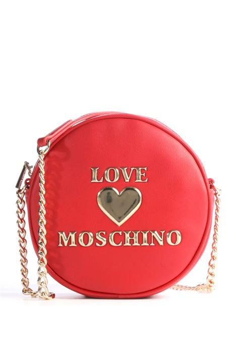 BORSA A SPALLA CUORE LUCIDO IMBOTTITO LOVE MOSCHINO | Borsa | JC4036PP1BLE0500ROSSO