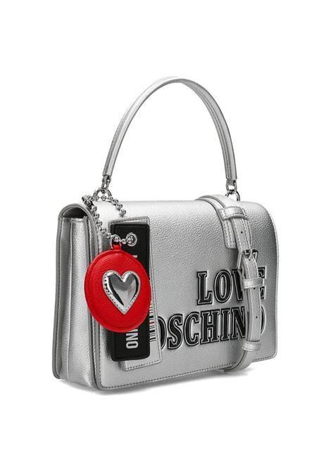 BORSA A MANO CON CHARME LOVE MOSCHINO | Borsa | JC4238PP0BKG0902ARGENTO
