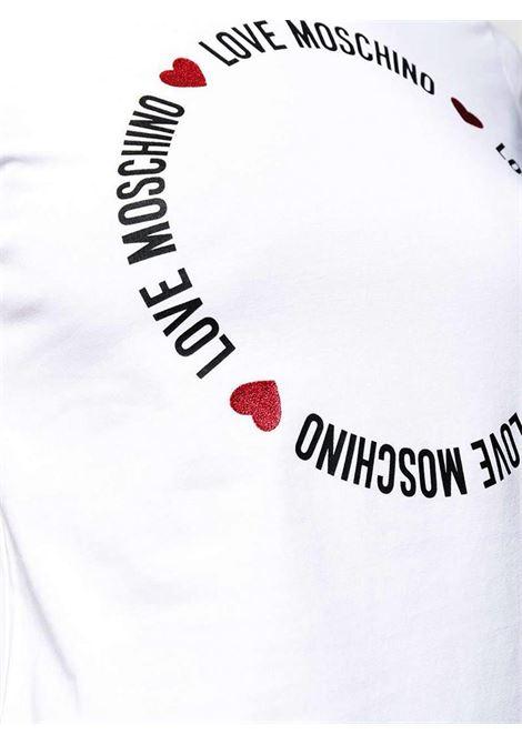 T-SHIRT CON STAMPA LOGO LOVE MOSCHINO | T-shirt | W4F7367E1951A00WHITE