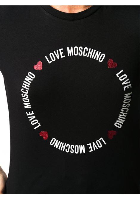 T-SHIRT CON STAMPA LOGO LOVE MOSCHINO | Maglia | W4F7367E1951C74BLACK