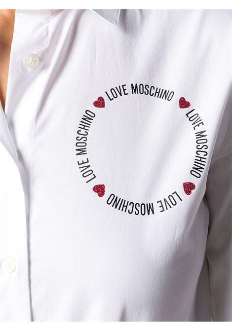 CAMICIA STAMPA LOGO LOVE MOSCHINO | Camicia | WCC3410S3296A00WHITE