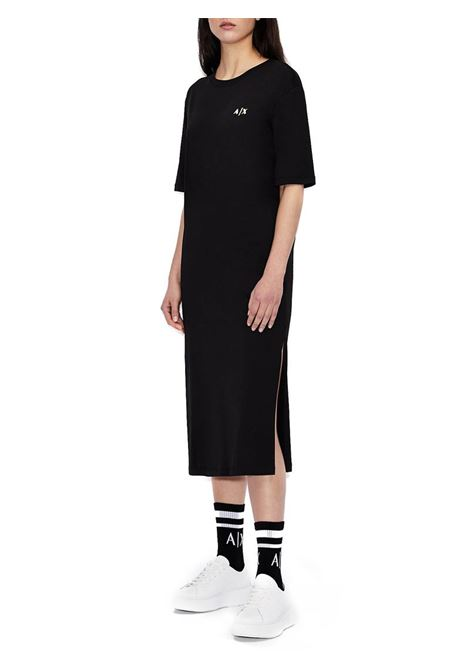T-DRESS IN COTONE ORGANICO AX ARMANI EXCHANGE | Abito | 3KYA80YJ9MZ1200BLACK