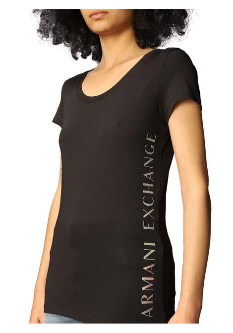T-SHIRT CON LOGO AX ARMANI EXCHANGE | T-shirt | 3KYTGUYJW1Z1200BLACK
