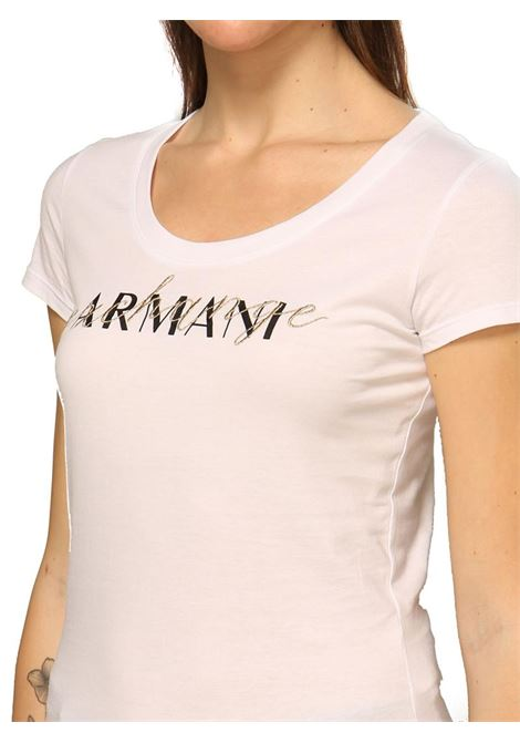 T-SHIRT CON LOGO AX ARMANI EXCHANGE | T-shirt | 3KYTGVYJ73Z1000OPTCWHITE