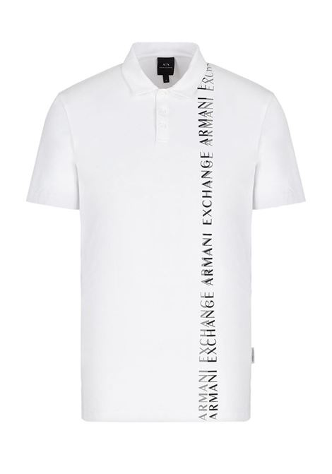 POLO IN COTONE AX ARMANI EXCHANGE | Polo | 3KZFFTZJ2ZZ1100BIANCO