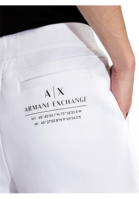 BERMUDA CON DETTAGLI A CONTRASTO AX ARMANI EXCHANGE | Bermuda | 3KZSFEZJ9FZ1100BIANCO