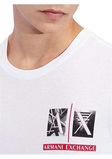 T-SHIRT SLIM FIT AX ARMANI EXCHANGE | T-shirt | 3KZTAAZJA5Z1100BIANCO