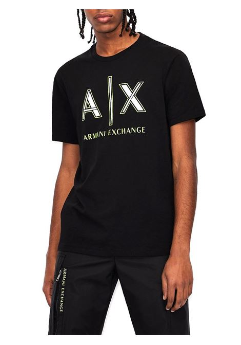 T-SHIRT REGULAR FIT AX ARMANI EXCHANGE | T-shirt | 3KZTAFZJ4JZ1200BLACK