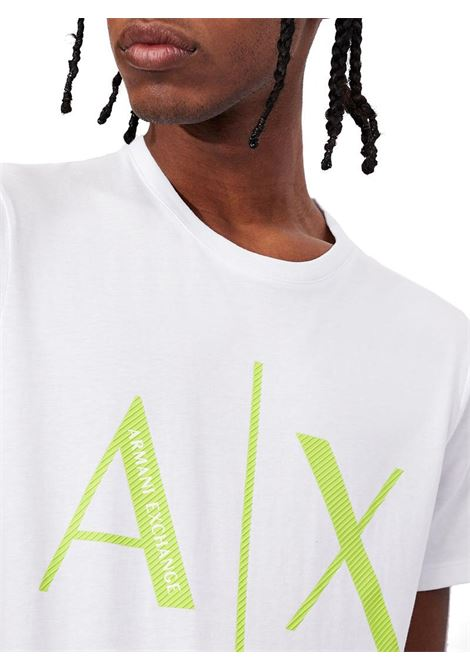 T-SHIRT SLIM FIT AX ARMANI EXCHANGE | T-shirt | 3KZTAGZJ4KZ1100BIANCO