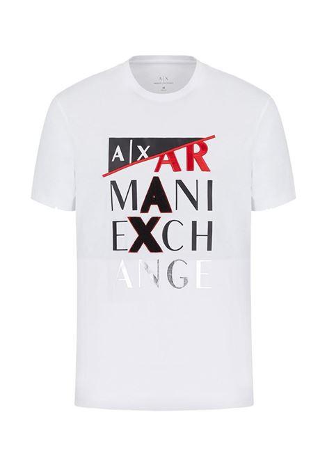 T-SHIRT CON STAMPA AX ARMANI EXCHANGE | T-shirt | 3KZTFDZJBVZ1100BIANCO