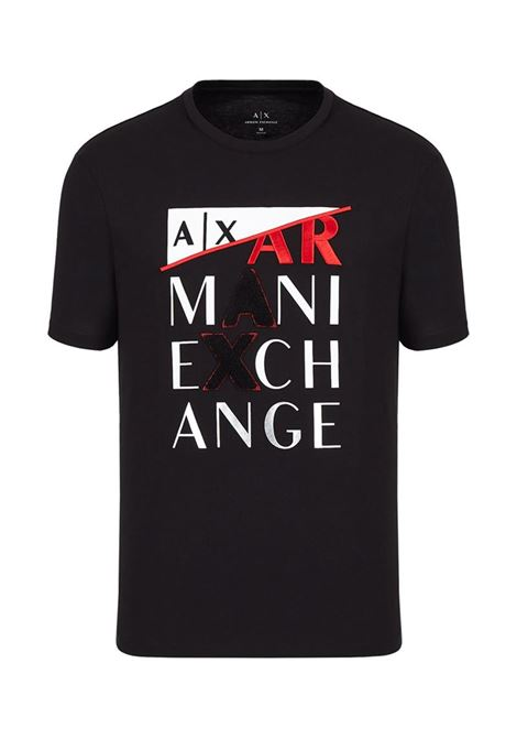 T-SHIRT CON STAMPA AX ARMANI EXCHANGE | T-shirt | 3KZTFDZJBVZ1200BLACK