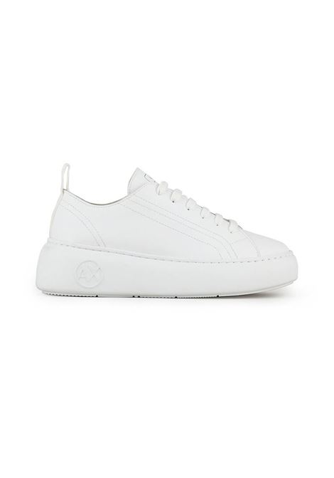 SNEAKERS IN PELLE AX ARMANI EXCHANGE | Sneakers | XDX043XCC6400152OPWHITE