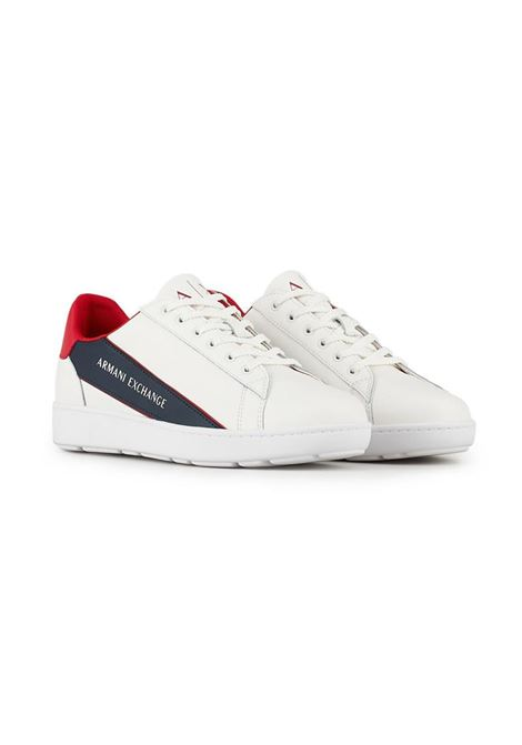 SNEAKERS IN PELLE AX ARMANI EXCHANGE | Sneakers | XUX082XV262K579WHITERUBIN