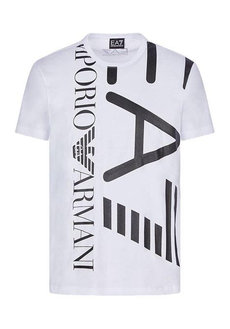 T-SHIRT CON MAXI LOGO E.A. 7 | T-shirt | 3KPT07PJA2Z1100WHITE