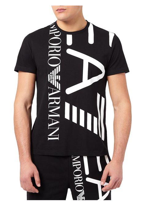 T-SHIRT CON MAXI LOGO E.A. 7 | T-shirt | 3KPT07PJA2Z1200BLACK