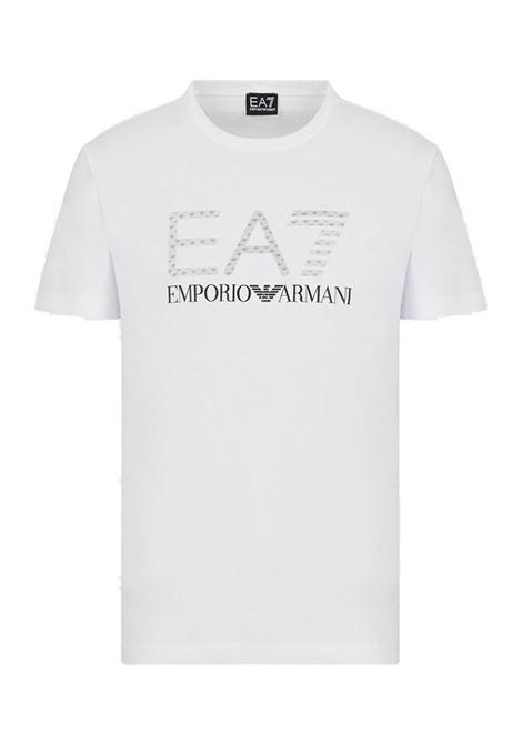 T-SHIRT STAMPA 3D E.A. 7 | T-shirt | 3KPT12PJ7CZ1100WHITE