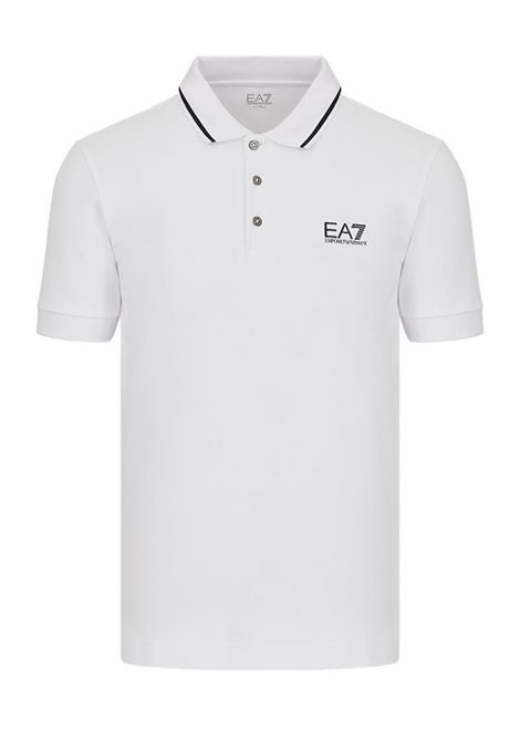 POLO IN PIQUET CON LOGO E.A. 7 | Polo | 8NPF06PJ04Z1100WHITE
