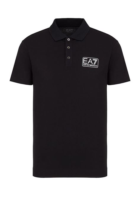 POLO IN PIQUET CON LOGO E.A. 7 | Polo | 8NPF12PJNQZ1200BLACK