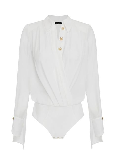 CAMICIA BODY IN GEORGETTE INCROCIATAQuesta camicia body ELISABETTA FRANCHI | Body | CB01211E2360AVORIO