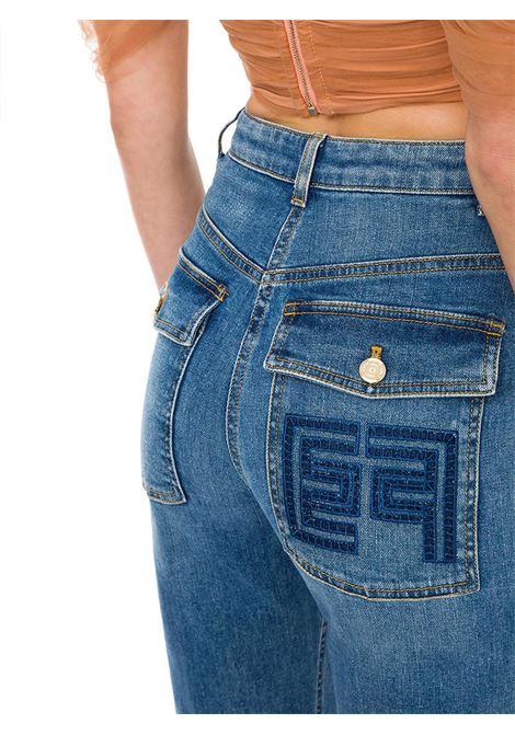 JEANS CON RICAMO SUL RETRO ELISABETTA FRANCHI | Jeans | PJ98D11E2192LIGHTBLUE