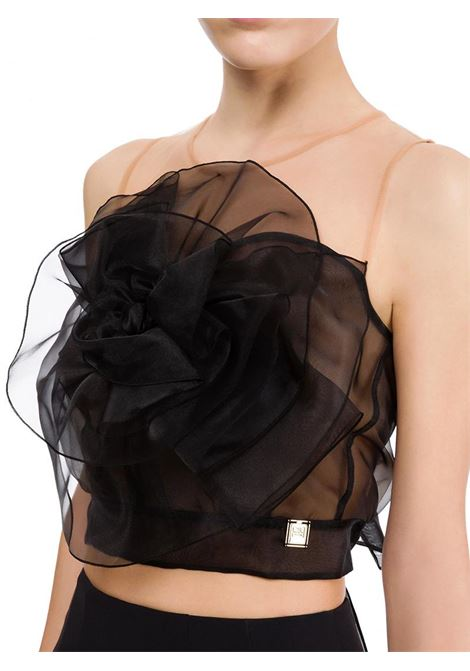 TOP IN ORGANZA ELISABETTA FRANCHI | Top | TO02211E2110NERO