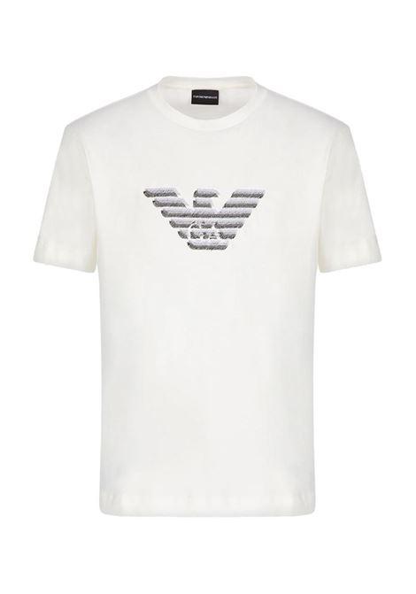 T-SHIRT CON MAXI AQUILA EMPORIO ARMANI | T-shirt | 3K1TC31JULZ0101BIANCOCALDO