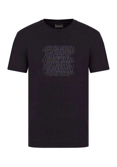 T-SHIRT CON STAMPA EMPORIO ARMANI | T-shirt | 3K1TD61JSHZ0920BLUNAVY