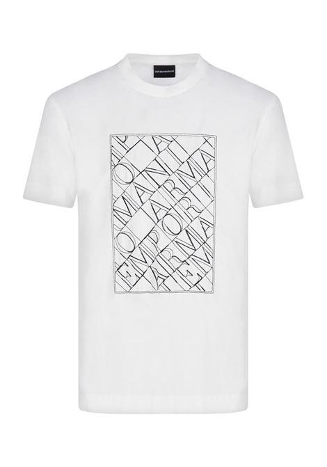 T-SHIRT IN JERSEY EMPORIO ARMANI | T-shirt | 3K1TM11JDXZ0101BIANCOCALDO