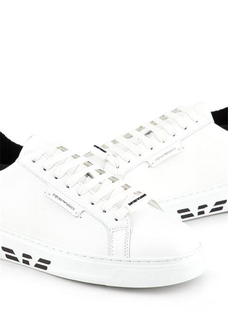 SNEAKERS IN PELLE EMPORIO ARMANI | Sneakers | X4X308XM709N591WHITE