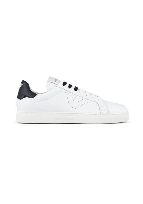 SNEAKERS IN PELLE EMPORIO ARMANI | Sneakers | X4X316XF527N422WHITEBLACK