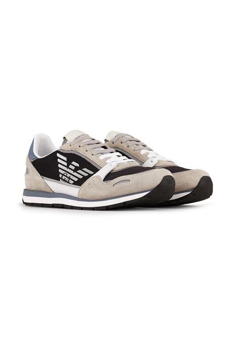 SNEAKERS IN MESH EMPORIO ARMANI | Sneakers | X4X537XM678Q091WHITENAVYGREY