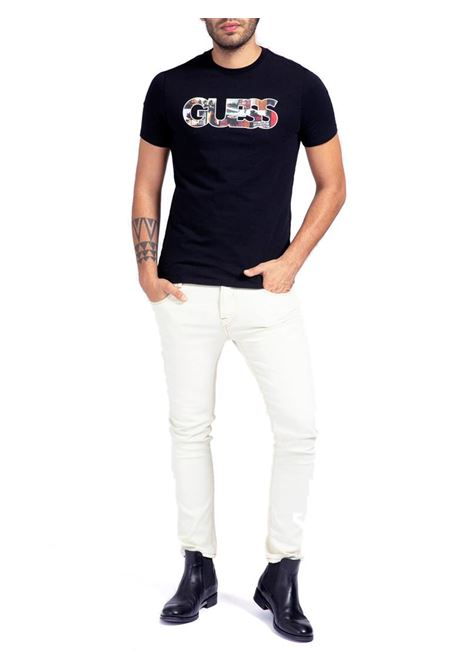 T-SHIRT LOGO FRONTALE GUESS | T-shirt | M1GI78J1311A996BLACK