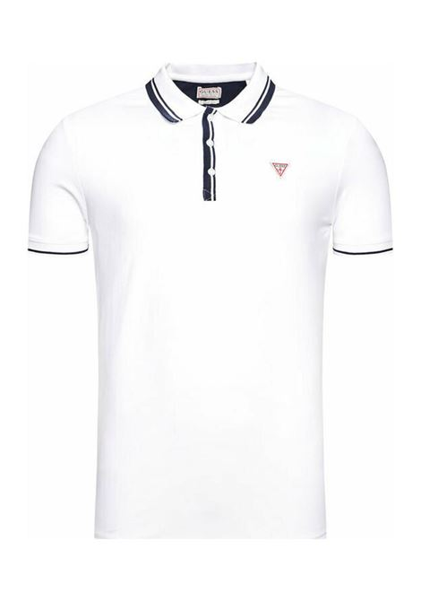 POLO LOGO TRIANGOLO GUESS | Polo | M1RP60K7O61A000WHITE