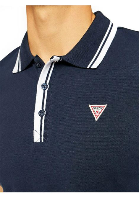 POLO LOGO TRIANGOLO GUESS | Polo | M1RP60K7O61G77GBLUE