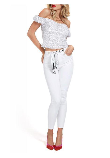 PANTALONE SKINNY CINTURA GUESS | Pantalone | W1GA36D4DN1PM00MOON