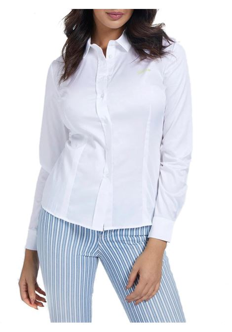 CAMICIA POPELINE GUESS | Camicia | W1RH41WAF10A000WHITE