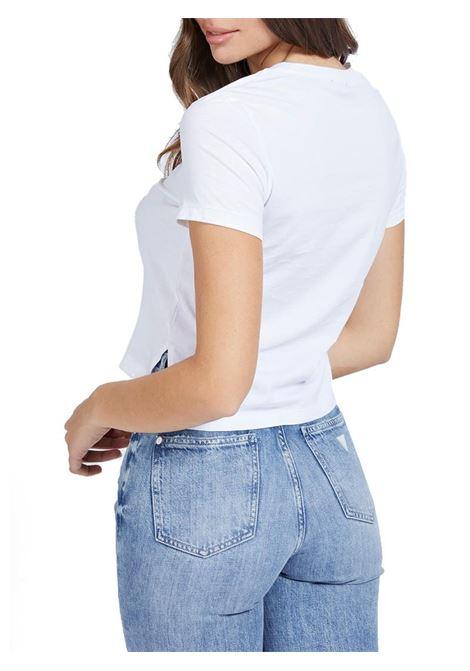 T-SHIRT LOGO FRONTALE GUESS | T-shirt | W1RI05JA900A000WHITE