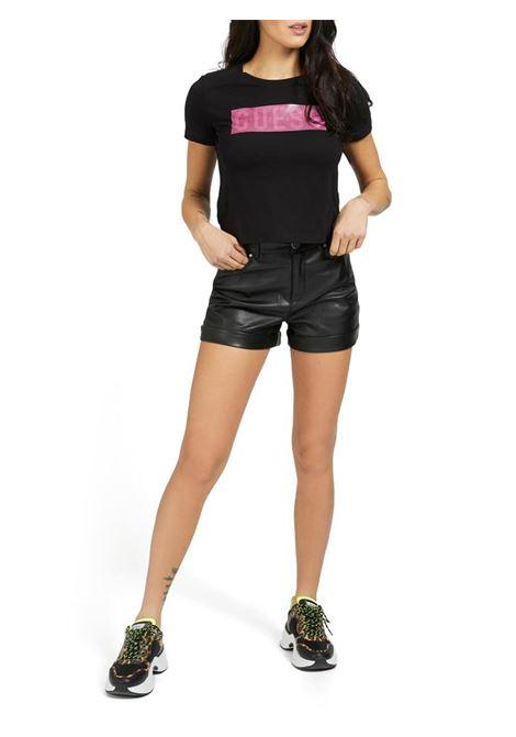 T-SHIRT LOGO FRONTALE GUESS | T-shirt | W1RI05JA900A996BLACK