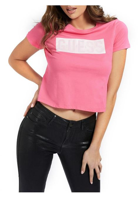 T-SHIRT LOGO FRONTALE GUESS | T-shirt | W1RI05JA900G64EROSE