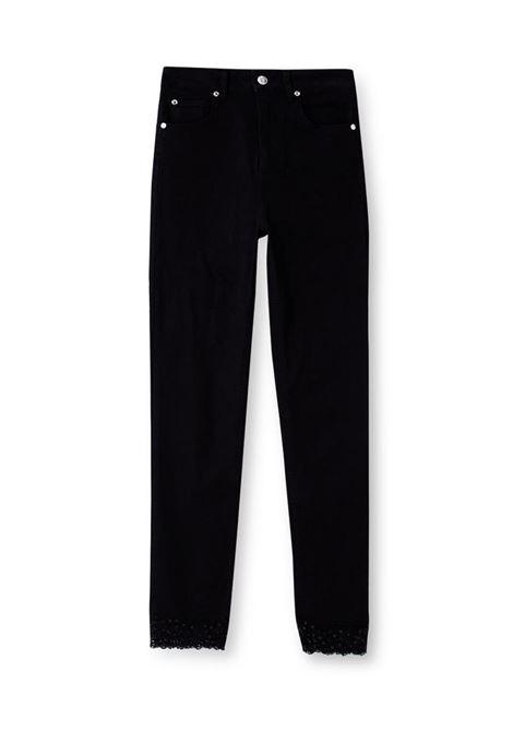 JEANS SKINNY A VITA SUPER ALTA LIU JO BLUE DENIM | Jeans | UA1060D418887177DENBLACK