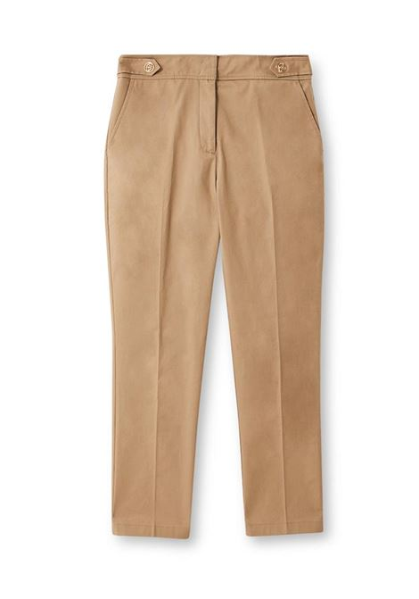 PANTALONE CROPPED CON BOTTONI LIU JO COLLECTION | Pantalone | CA1005T2398X0341MACADAMIA