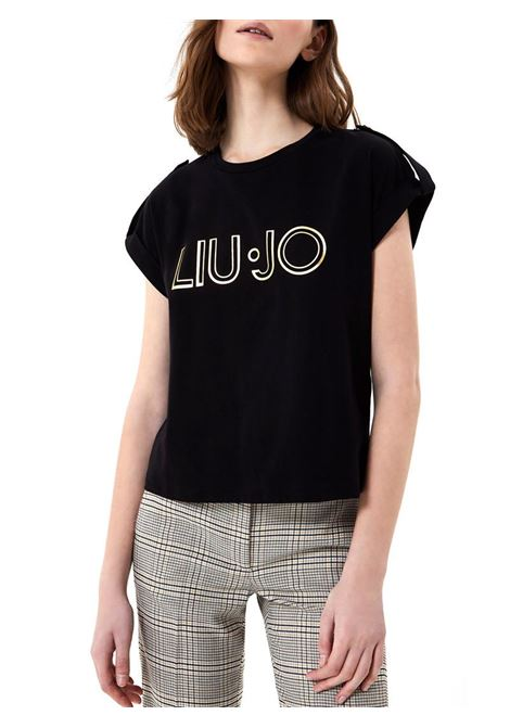 T-SHIRT CON LOGO LIU JO COLLECTION | T-shirt | CA1099J500322222NERO