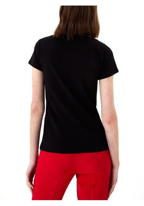 T-SHIRT CON APPLICAZIONI GIOIELLO LIU JO JEANS | T-shirt | WA1060J500322222NERO