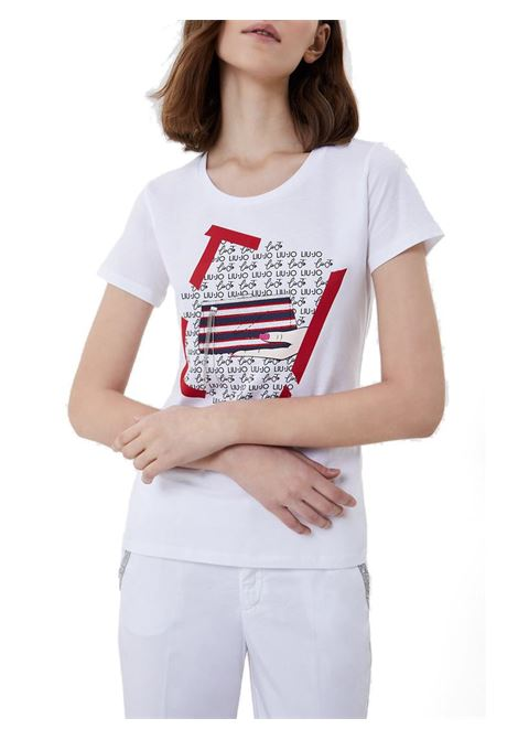 T-SHIRT CON STAMPA LIU JO JEANS | T-shirt | WA1495J5003T9758BIANCOOTTICO