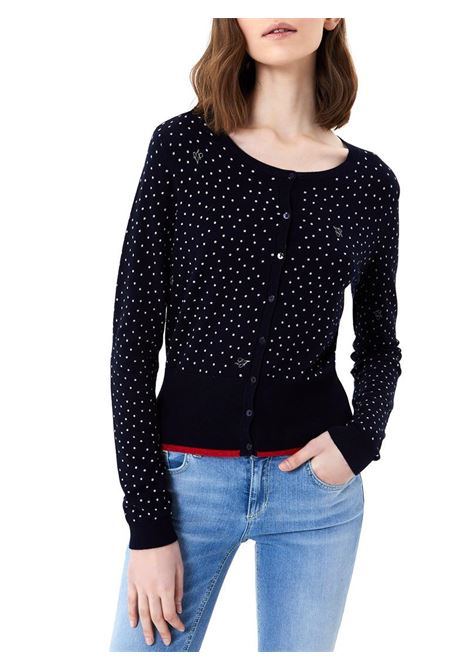 CARDIGAN A POIS LIU JO KNITWEAR | Cardigan | MA1121MA49IT9707NIGHTPOIS